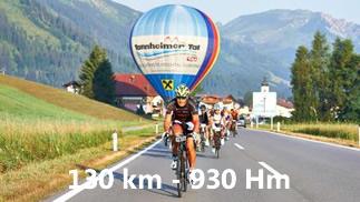 Rad-Marathon Tannheimer Tal Strecke 130 km